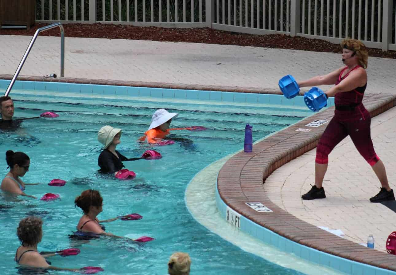 how to teach water fitness